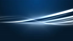 4K Blue Streaks Light Abstract Animation Background Seamless Loop. - stock footage
