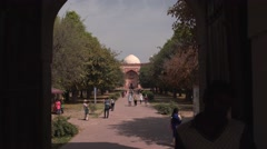Delhi Pathway to Humayun's Tomb 4K Stock Footage