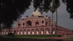 Delhi Humayun's Tomb Through the Trees 4K Stock Footage