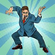 business boss ninja martial arts - stock illustration