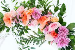Fresh aroma wedding flower arc Stock Photos