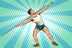 Javelin thrower athletics summer sports games Stock Illustration
