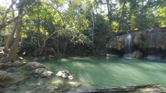 Erawan national park waterfall Stock Footage