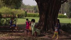 Delhi Hindu Women at Humayun's Tomb 4K Stock Footage