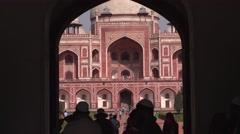 Humayun's Tomb Entrance Closeup 4K Stock Footage