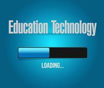 education technology loading bar sign concept - stock illustration