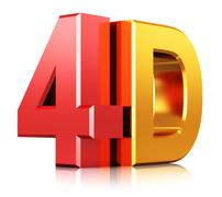 4D cinema technology symbol - stock illustration