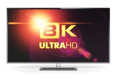 8K UltraHD TV Stock Illustration