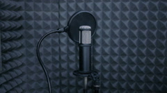 Sound Studio microphone Stock Footage