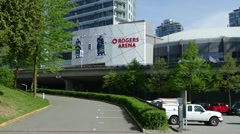 Vancouver's Rogers Arena side view Stock Footage