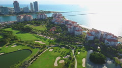 Fisher island on the southern tip of Miami Beach 4k Stock Footage