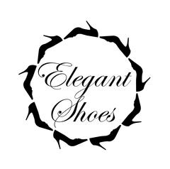 Elegant shoes text with a circle of ladies shoes Stock Illustration