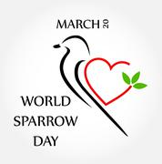 World sparrow day March 20  - stock illustration