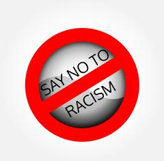 Stop racism  Stock Illustration
