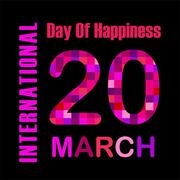 International Day of Happiness- Commemorative Day March 20 Stock Illustration