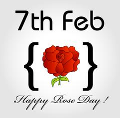 Happy Rose day card for february 7th Stock Illustration