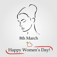 8th March womens day greetings  Stock Illustration