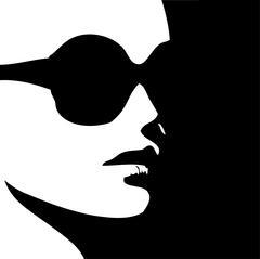 Woman in trendy eye wear  - stock illustration