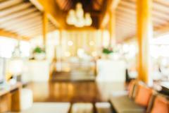 Abstract blur hotel lobby - stock photo