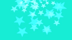 Background with green moving star pattern Stock Footage