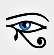 The eye of Horus  - stock illustration