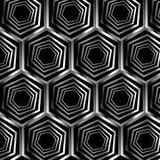 Silver hexagonal optical illusion  Stock Illustration
