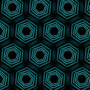 Turquoise optical illusion background  - stock illustration