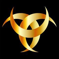 Horned Triskele- The horn of Odin - stock illustration