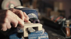 Jewelry Work. Lathe. Creating Wax Model Stock Footage