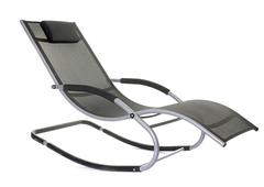 rocking chair deck - stock photo
