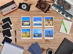 Six travel foto card. - stock photo