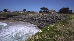 Amazing view of Pacific ocean near Santa Cruz, California. - stock footage