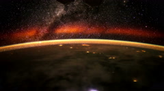 Earth and the Milky Way from the ISS. Elements of this video furnished by NASA. - stock footage