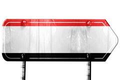 Yemen flag, 3D rendering, road sign on white background - stock illustration