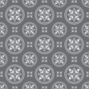 Seamless Antique Dark Pattern - stock illustration