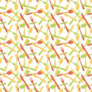 Seamless Cutlery Silverware Pattern Stock Illustration