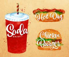 Soda water kraft - stock illustration