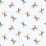 Seamless Scissors Background Pattern Stock Illustration