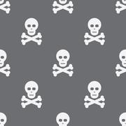 Seamless Scull Pattern Background - stock illustration