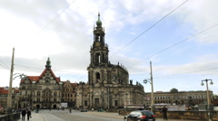 Historical center of Dresden, Saxony, Germany - stock footage