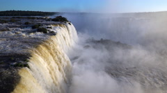 Iguacu Falls, Foz do Iguacu, Iguacu (Iguazu) National Park, Brazil - stock footage