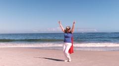 Fancy-dress mature woman dancing Stock Footage