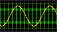 Seamless looping animation oscillogram sine waves Stock Footage