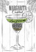 Margarita cocktail Stock Illustration