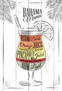 Banama mama cocktail Stock Illustration