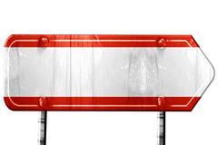 Austrian flag, 3D rendering, road sign on white background - stock illustration