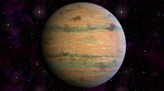 Jupiter rotates on a background of the starry sky. Video animation  loop cycle Stock Footage