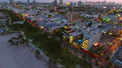 Miami nightlife and hot spot clubs - stock footage