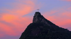 Christ Redeemer statue, Corcovado mountain, Rio de Janeiro, Brazil Stock Footage