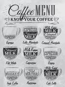Coffee menu coal Stock Illustration